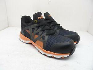 Puma Men's Rush 2.0 Mid SD Comp. Toe Athletic Work Shoes Navy/Orange Size 8.5M