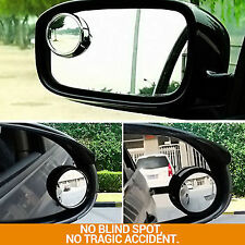 2x CONVEX BLIND SPOT MIRROR Towing Reversing Driving SELF-ADHESIVE Car Van