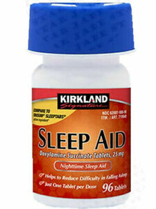 KIRK LAND Sleep Aid - 1 Bottles (96 pills) with Expiration Year 2024 by Costco