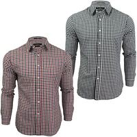 Mens Gingham Check Shirt by Crosshatch 'Larix'