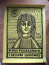 Polish Poster Art: original FOLKLORU SZTUKI LUDOWEJ