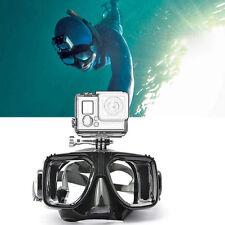 Tauchmaske Schwimmbrille -Gläser mit Kamerahalter ^für GoPro Hero 4 3 3+ 2