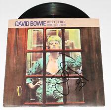 """DAVID BOWIE SIGNED 'REBEL REBEL' 7"""" INCH 45 VINYL RECORD SINGLE ACOA LOA COA"""