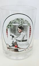 Saturday Evening Post Norman Rockwell BOY GAZING OUT WINDOW Glass Tumbler