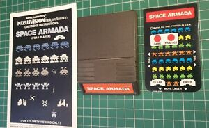 Intellivision Space Armada with manual and 1 overlay