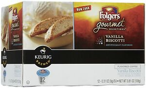 Folgers Gourmet Selections Vanilla Biscotti 12 K-Cups