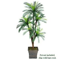 One 6' Cycas Artificial Palm Tree with 5 Heads Plant Plastic Fronds with No Pot