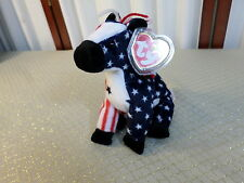 2000 Adorable Ty Lefty The Patriotic Donkey Beanie Baby-Free Shipping