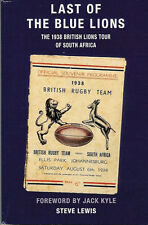 THE LAST OF THE BLUE LIONS, STEVE LEWIS BRITISH LIONS TOUR 1938 RUGBY BOOK