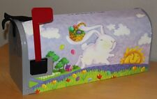 Bunny Trail Magnetic Mailbox Cover by Magnet Works #6409 Easter