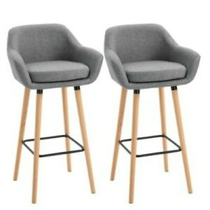 ^X2 Bar Stools Modern Upholstered Seat Bar Chairs w/Metal Frame Solid Wood 36!21