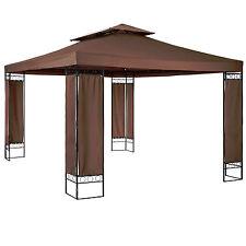 Pabellón de lujo carpa fiestas jardín tienda de campaña 390x290x265 cm marrón