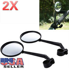 2x Flexible Bike Bicycle Handlebar Glass Rear View Cycling Cycle Rearview Mirror