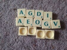 Scrabble Game, Complete Set Of Green Letter Tiles. Genuine Mattel Parts.