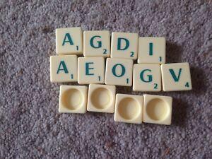 Scrabble Game, Complete Set Of Green Letter Tiles. Genuine Mattel Parts.
