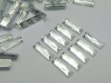 200 Clear Acrylic Flatback Rectangle Rhinestone Gems 5X15mm No Hole