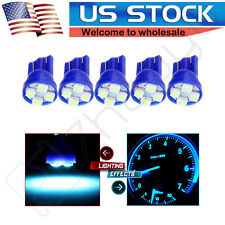 5x T10 168 194 2825 W5W 5-3528-SMD Ice Blue LED For License Plate Lights Bulb