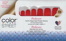 CS Nail Color Strips Baton Rougey-Pedicure 100% Nail Polish - USA Made!