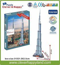 Clever&Happy 3D Puzzle Model Burj Khalifa Educational Toys Adult Paper DIY