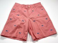 Vineyard Vines 32 Whale Embroidered Pink Men's Club Shorts