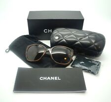 CHANEL Brown Iconic Tweed 5237 Butterfly Sunglasses with Box