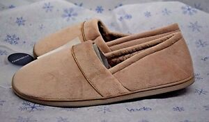 Charter Club Women's Taupe Beige Plush Cushioned Insole Slippers XL 11-12