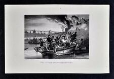 1865 Civil War Print The Attack on Fredericksburg Virginia Rappahannock Crossing