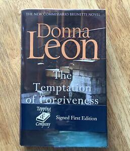 The Temptation of Forgiveness - Donna Leon - Signed 1st Edition - Hardback - Vgc