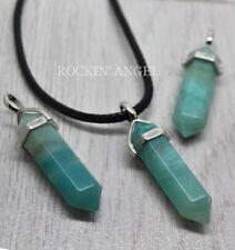 Natural Amazonite Pendulum Prism Pendant Necklace Reiki Healing Ladies Gift