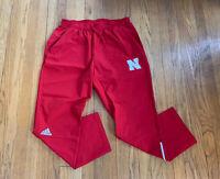 Nebraska Cornhuskers Adidas Football Training Pants Team Issue Mens XL NWOT Mint
