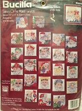 Santa's of the World-set of 25 Counted Cross Stitch By Bucilla