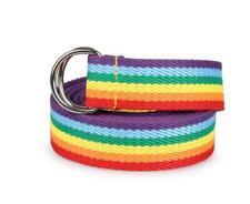 Trendy rainbow Colors Exquisite Waist Belt Pretty canvas Thin Skinny Waist Belt