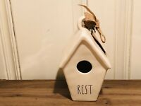 Rae Dunn Christmas Collection By Magenta Ceramic REST Slant Roof Birdhouse VHTF