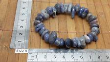Bracelet baroque TANZANITE grosses pierres roulées (RARE) - lithotherapie chips