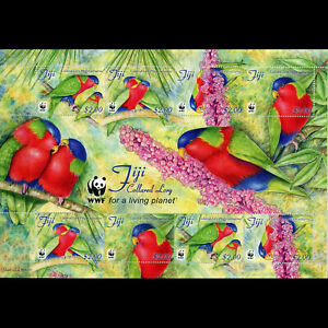 FIJI 2012 Collard Lory. Bird. SG MS 1480. Mint Never Hinged. (WF776)