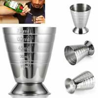 75ml Stainless Spirit Cocktails Measure Cup Jigger Alcohol Bartending Wine 🔥