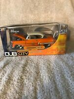 2004 Jada Toys Dub City Old Skool (Orange) 1953 Chevy Bel Air 1:24 NIB. VHTF!