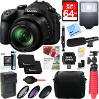 Panasonic LUMIX FZ1000 Long Zoom Digital Camera + Dual Battery & Accessory Kit