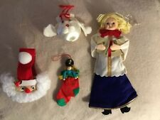 Lot Handmade Christmas Ornaments, Hand-made, 4 pcs.