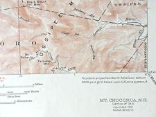 MT CHOCORUA Quadrangle 1951 TOPOGRAPHICAL MAP White Mountains National Forest