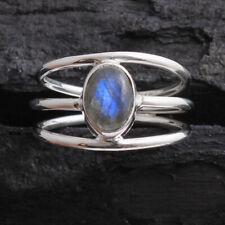 Labradorite Gemstone 925 Sterling Silver Jewelry solid women Ring Size US 6