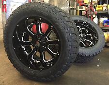 "(5) 20"" 20x10 XD825 XD BUCK Black Wheels 5x5 Jeep Wrangler JK 33"" Toyo AT Tires"