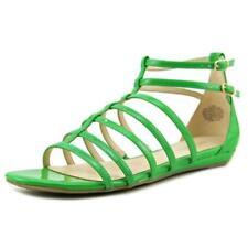 Calzado de mujer sandalias con tiras de color principal verde talla 37