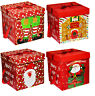 Large Premium Christmas Eve Gift Box, Lid & Ribbon Handles Xmas Present Wrapping