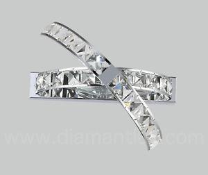 applique cristallo moderno acciaio cromato camera salone bagno cucina ingresso