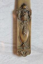 A. GANGAND : Coupe Papier en Bronze Art Nouveau Motif de Dieu