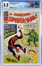 AMAZING SPIDER-MAN # 5 CGC grade 3.5  Marvel 1963 DR DOOM