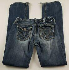 MEK Buckle Womens Jeans Sz 27 x 36 Eldora Boot Cut Low Rise Medium Wash Denim **