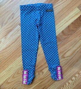 ~ Matilda Jane ~ sz 4 NEW GIRLS Make Believe Blue Polka Dot Leggings Buttons