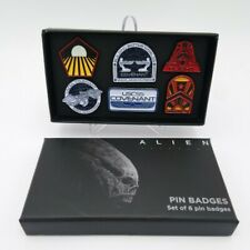 ALIEN Covenant 6 Pin Badge mit Etui Original  Promotion Official ALIEN Day